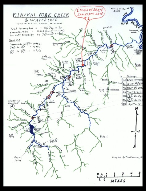 Mineral Fork Watershed Map