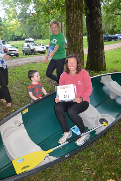 This lucky Stream Teamer won a canoe for coming out and cleaning Jacks Fork. Lucky duck!