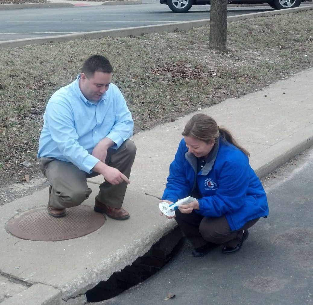 storm drain marking StCharles County